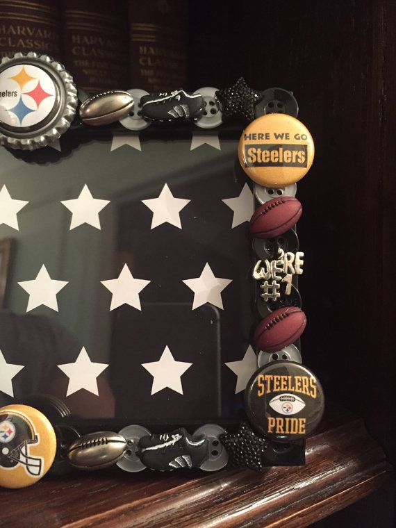 Pittsburgh Steelers button picture frame