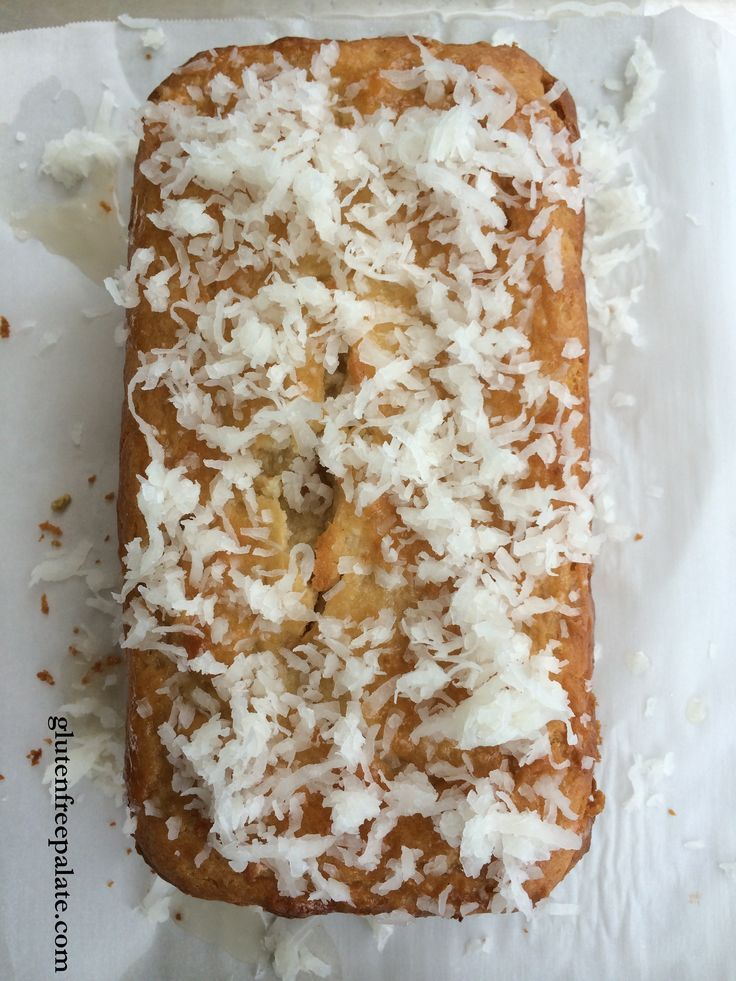 Gluten Free Vanilla Glazed Coconut Pound Cake | Gluten-free ...