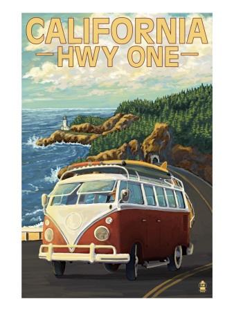 The PCH: Pismo Beaches, Travelposters, Vw Bugs, Art Prints, Oregon Coast, Oregon Travel, Vintage Travel Posters, Vw Vans, Vintage Style