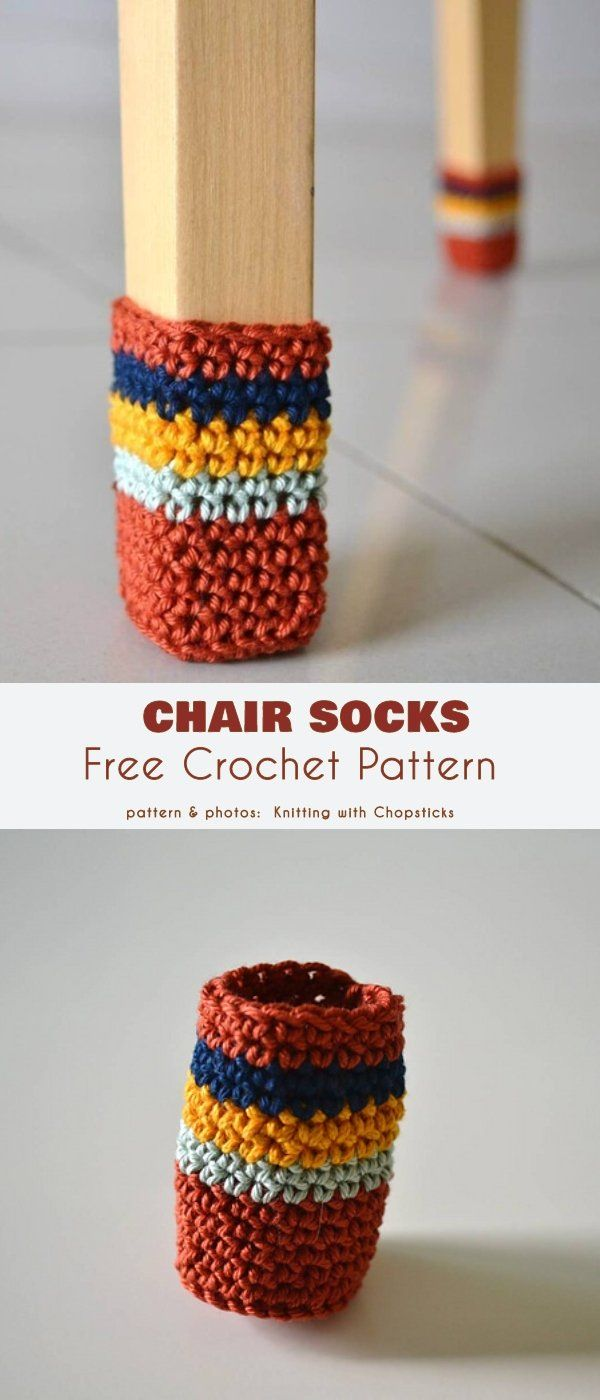 Chair Sock Free Crochet Patterns in 10  Chair socks, Free