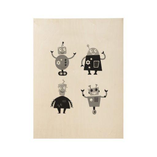 Little boys room interior design : Robots!