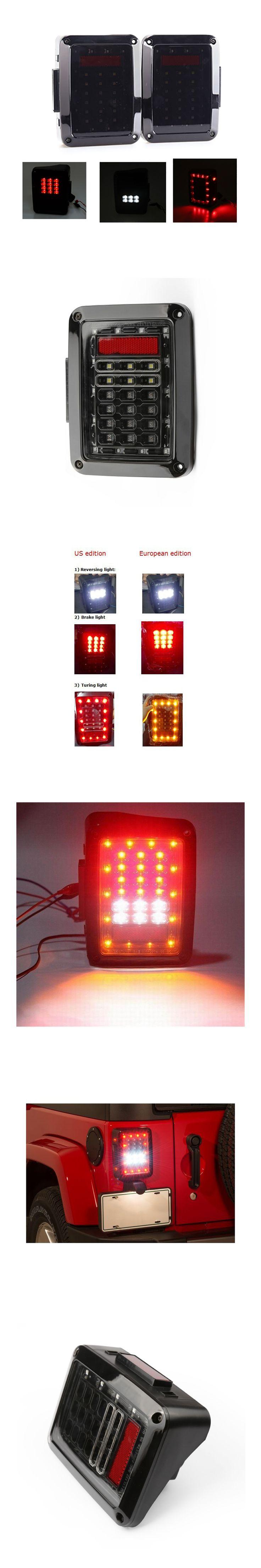 Suparee US 2017 Auto LED Tail Light Wrangler JK LED Brake Tail Lights Assembly For Jeep Wrangler JK 2007-2014 Tail Lights Led