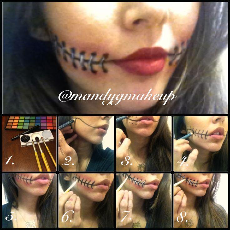 Halloween makeup ideas! Stitches! @mandygmakeup