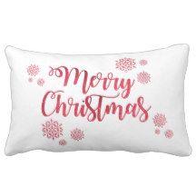 """Merry Christmas Lumbar Pillow 13"""" x 21"""""""