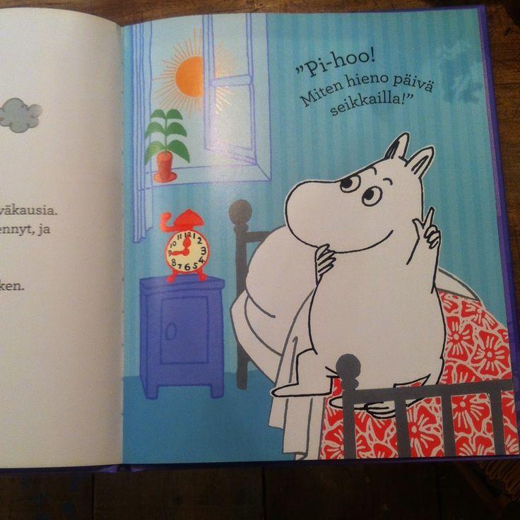 絵本 『ぼうけんにいこうよ、ムーミントロール』フィンランド語版 vintage MUUMIN kuutamoseikkailu 金沢にある北欧ヴィンテージ雑貨店 PIPPURIKERA ピップリケラ