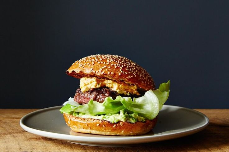 Bacon-Stuffed Burgers with Pimento Cheese and Avocado recipe on Food52