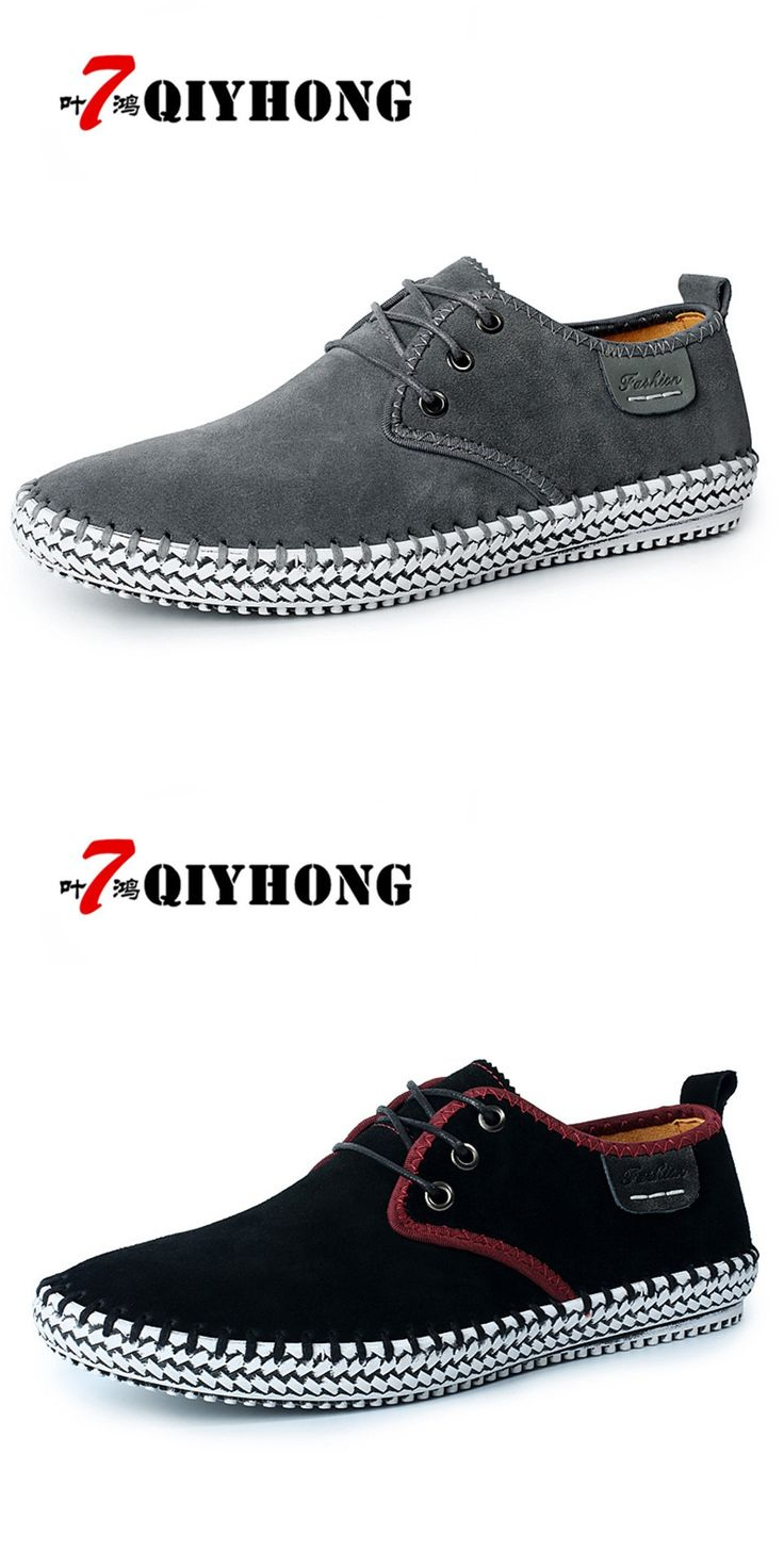 QIYHONG Brand 2017 New Summer Plate shoes Soft Genuine Leather Flats  Loafers Men Shoes Fashion Casual