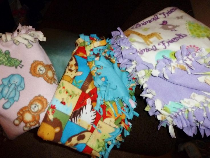 how to make a fleece baby blanket no sewing