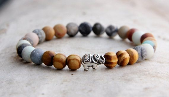 mothers day birthstone african jewelry african bracelet elephant Jewelry elephant bracelet amazonite Jewelry amazonite bracelet fertility by Lovelyblackpanther #TrendingEtsy