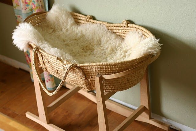 moses basket and rocker - we have this I couldn't bear to part with it.  I should get it out to hold the dollies.