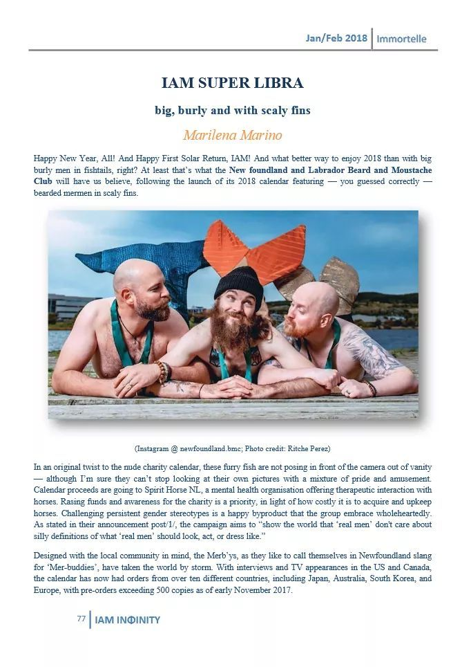 Haven't you heard? It's all about bearded merpeople! Read the full article in the latest Infinity Astrology Magazine: https://e.issuu.com/issuu-reader3-embed-files/latest/twittercard.html?d=iam__17_immortelle_jan-feb_2018&p=77&u=iaminfinity&utm_campaign=crowdfire&utm_content=crowdfire&utm_medium=social&utm_source=pinterest There's also an interview with me on page 124! https://e.issuu.com/issuu-reader3-embed-files/latest/twittercard.html?d=iam__17_immortelle_jan-feb_2018&p=12...