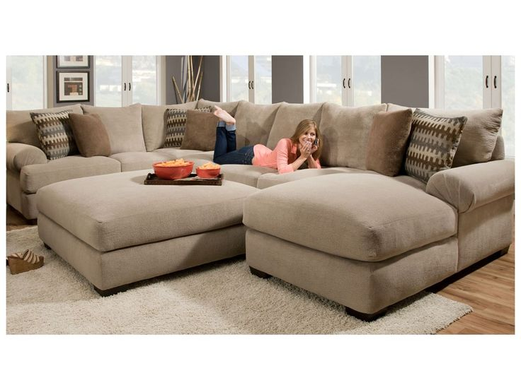 Artwork of 2 Piece Sectional Sofa with Chaise Design