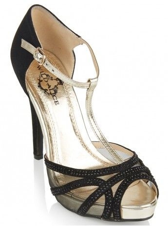 T-bar High Heels Black 449