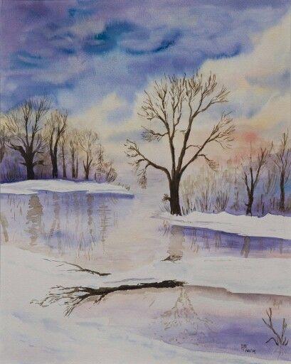 Winter. Aquarel.