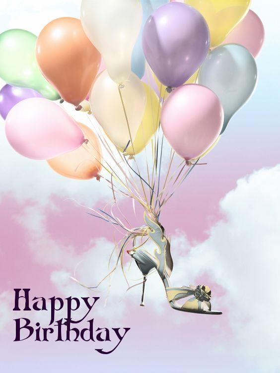 Happy Birthday - Shoes - Heels - Balloons