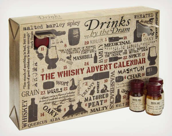 The Whisky Advent Calendar Will Make December Days More Bearable #advent #holiday trendhunter.com