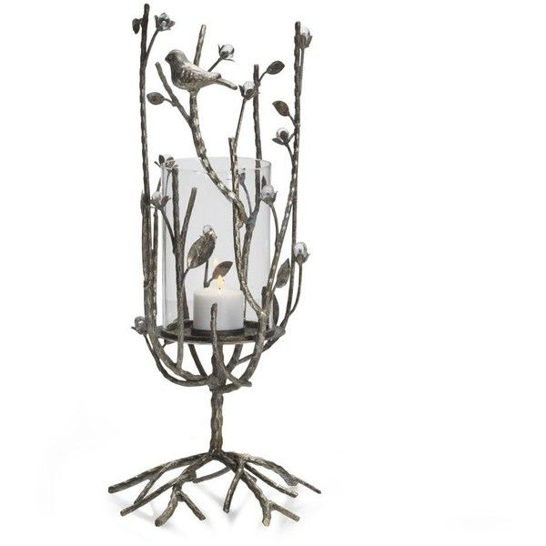 Mikasa® 18 Inch Guilded Twigs Hurricane ($30) ❤ liked on Polyvore featuring home, home decor, candles & candleholders, decor, mikasa, lighted candles, hurricane candle, twig centerpieces and lit candle