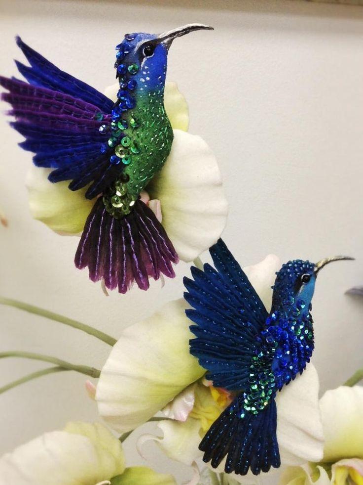 Шелковая птица-брошь - колибри (мастер-класс) - Ярмарка Мастеров - ручная работа, handmade