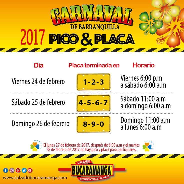 ¡Vacílate el Carnaval! sin contratiempos con Calzado Bucaramanga Este será el pico y placa para vehículos particulares que empieza a regir desde mañana.