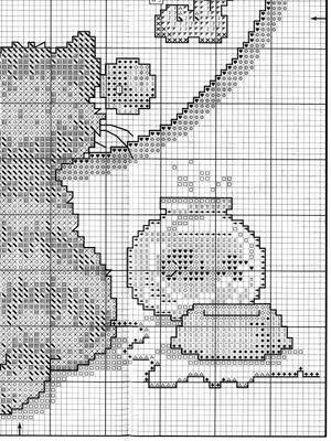 Cross Stitch free Pattern... cat clock 4