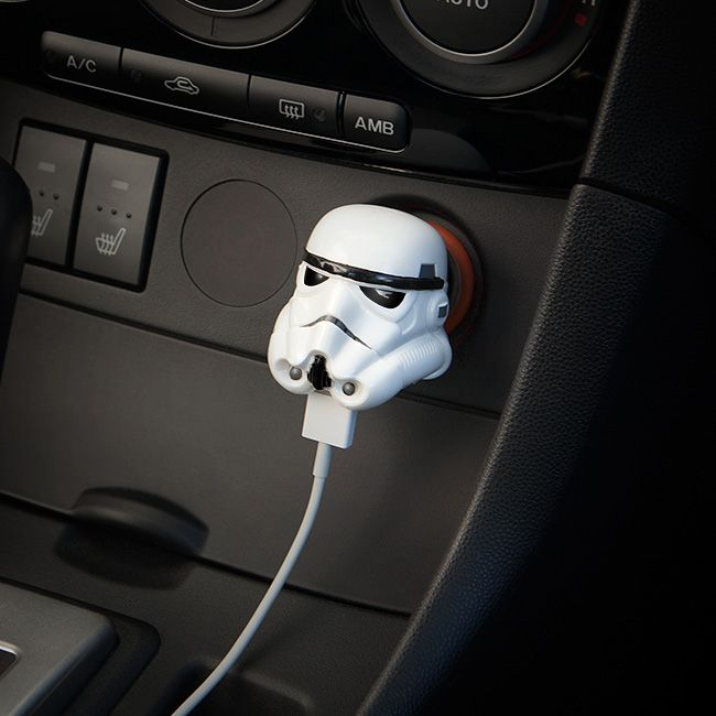 Darth Vader and Stormtrooper 12V USB Car Chargers Help Harness the Dark Side of the Force While on the Go