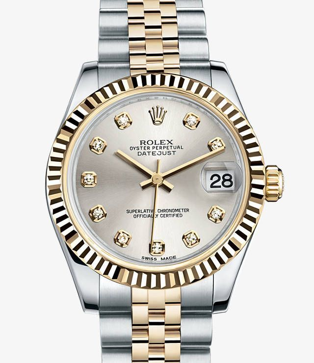 Absolutely in love with this Rolex Datejust 31 Watch: Yellow Rolesor - combination of 904L steel and 18 ct yellow gold - 178273 - womens gold watches cheap, womens nice watches, womens nice watches