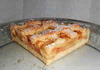 Jablečný  mřížkovaný koláč