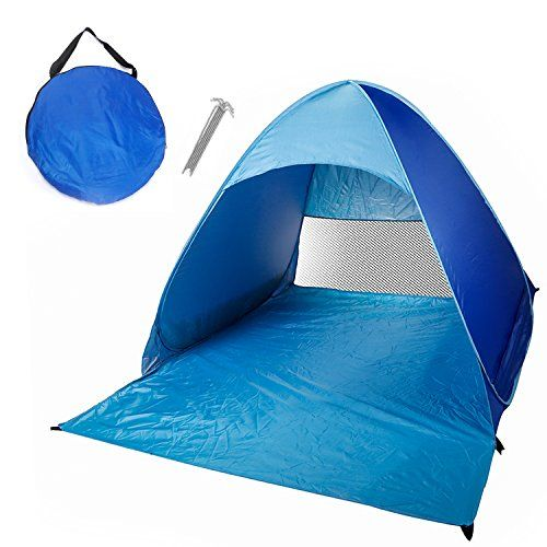 Cabana Beach Tentwaterproof Outdoor 2-3 Persons Quick Automatic Pop Up Instant Portable Tent And Sun Shelter For Camping Fishing And More (blue)