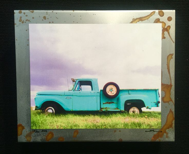 """Jalopy collection  #J-098 Www.saltedstudio.com 12"""" x 10"""" x 2.5"""" $85 each (old ford truck )"""