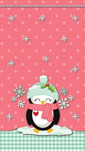 Winter Penguin Wallpaper Iphone Android Cute Christmas