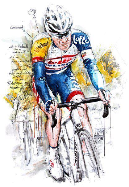Jürgen Roelandts on Ronde van Vlaanderen by Horst Brozy.