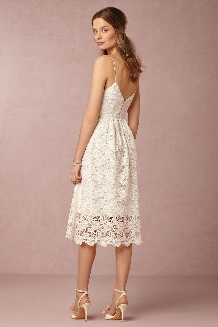 Short lace dress for a beach wedding by BHLDN