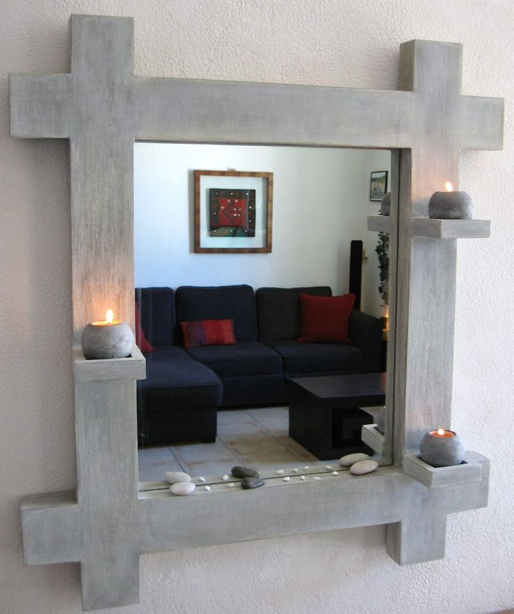 Tutorial mirror with cardboard lanterns (Craft cardboard cardboard). Pattern and step by