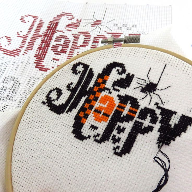 WIP - Happy Halloween Cross Stitch Pattern.