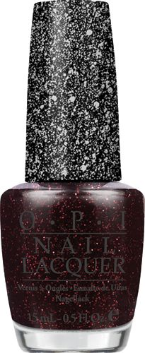 "Mariah Carey by OPI Collection   ""Stay the Night""  Make it last in this matte black with red glints"