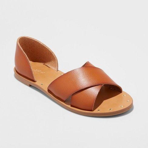 Universal Thread Women's Lois Open Toe Slide Sandals