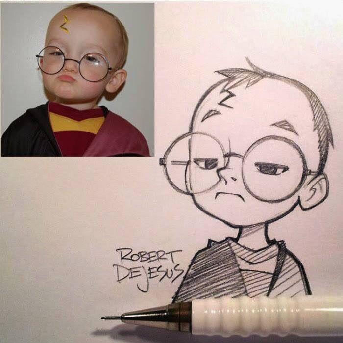 Artwork: pencil sketches by Robert Dejesus – Random Content of the internet