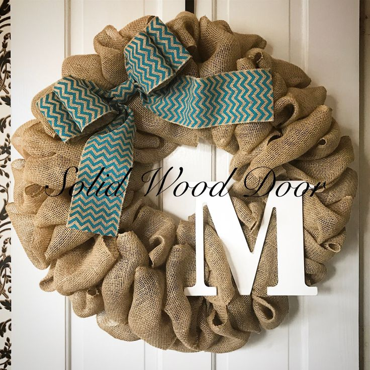 A personal favorite from my Etsy shop https://www.etsy.com/listing/501036504/spring-summer-chevron-burlap-wreath