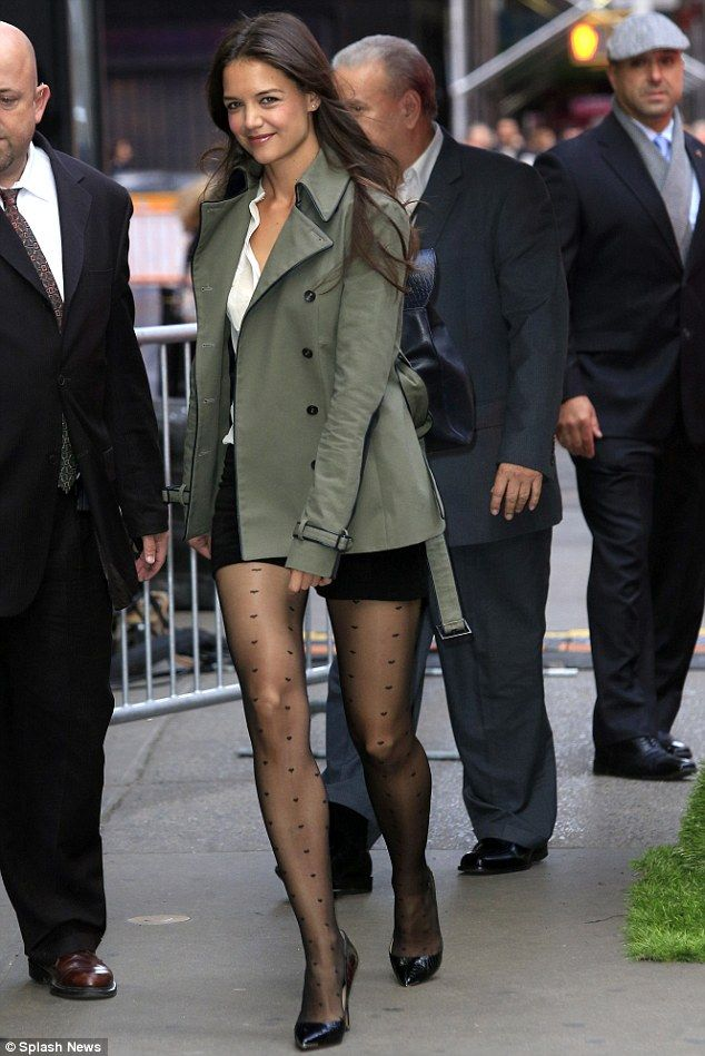 Katie Holmes Reveals Grey Hair As She Shows Off Her Legs