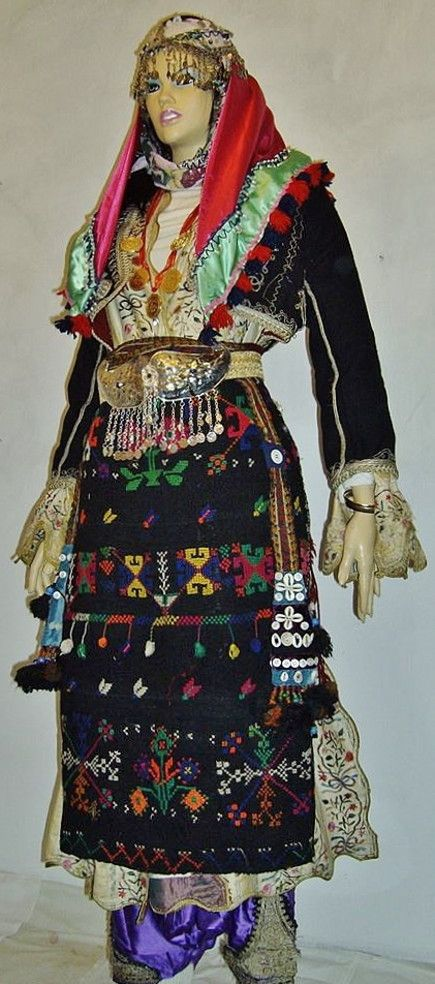 A traditional festive costume from the Manisa province.  Rural style, c. 1925-1950.