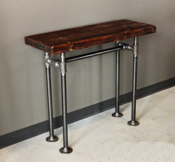 17 best images about rustic industrial furniture on for Table bar industriel