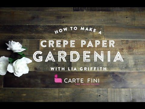 Learn how to make the elegant gardenia from this gorgeous Italian crepe paper. Find the photo tutorial and template right here: http://liagriffith.com/diy-cr...