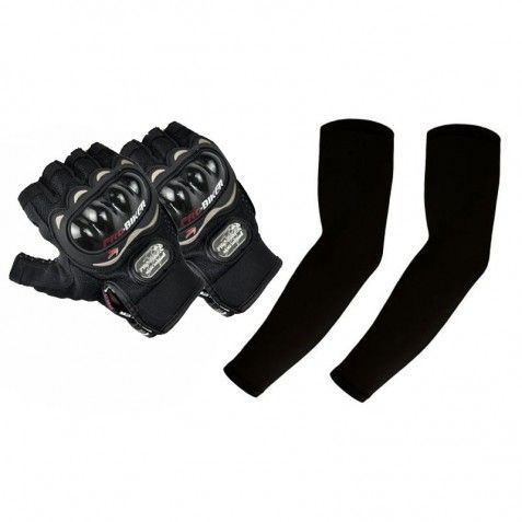 Pro Biker Half Finger Gloves & Arm Sleeves At Rs 249