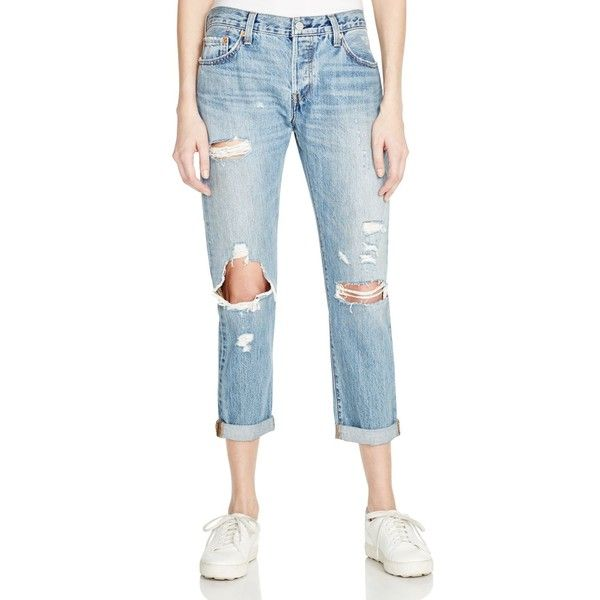 Levi's 501 Ct Boyfriend Jeans in Time Gone By ($69) ❤ liked on Polyvore featuring jeans, time gone by, levi jeans, saggy jeans, boyfriend fit jeans, slouch jeans and blue jeans