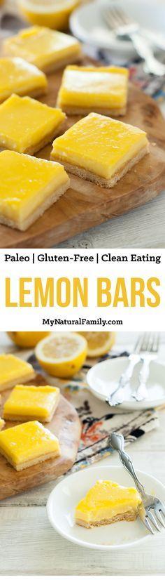 Lemon Bars Recipe {Paleo, Clean Eating, Gluten-Free}