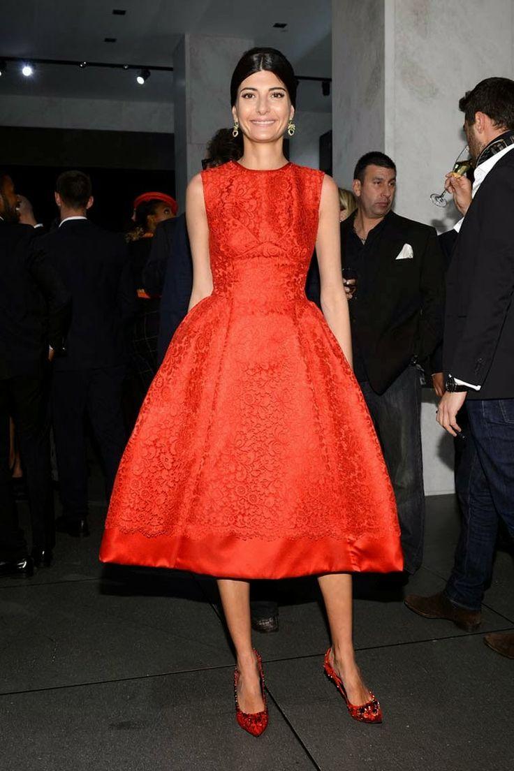 Giovanna Battaglia in Dolce & Gabbana