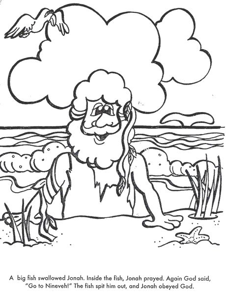 24 best images about sunday school on pinterest hidden for Jonah bible coloring pages