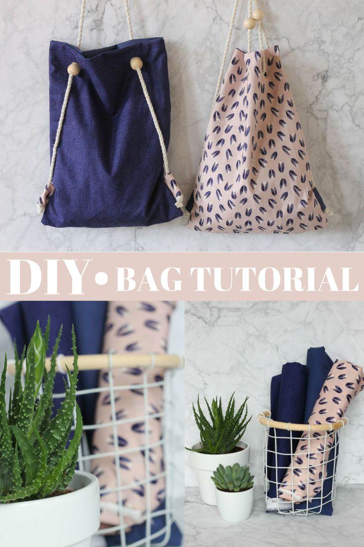 Diy Tutorial, Rucksack und Tasche in einem nähen, Schritt für Schritt Anleitung,