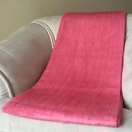 SOFT & WARM PLAIN SOLID ALPACA WOOL BLANKET 230x170 cm HANDMADE IN ECUADOR
