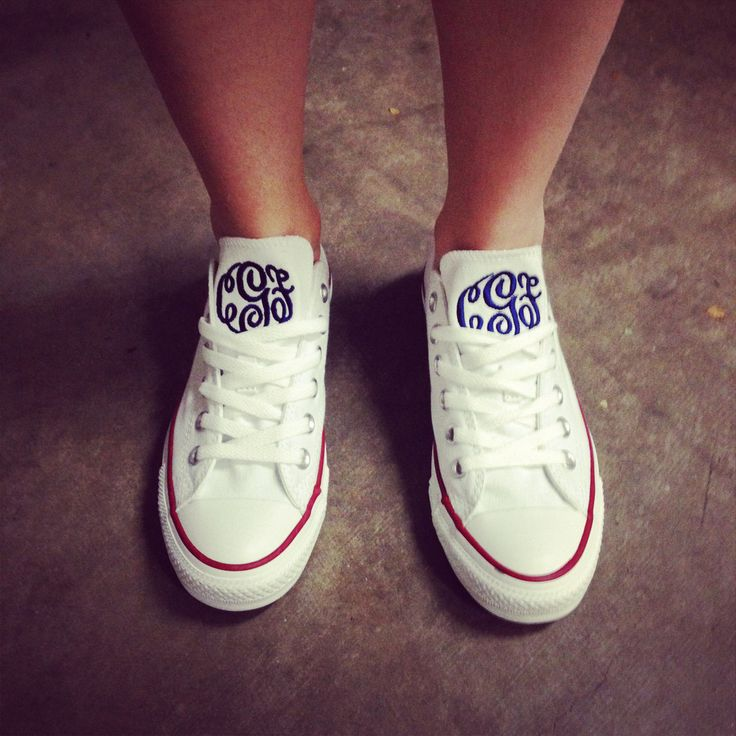 Monogram Converse Shoes - Just when you thought converse couldn't get any more perfect.